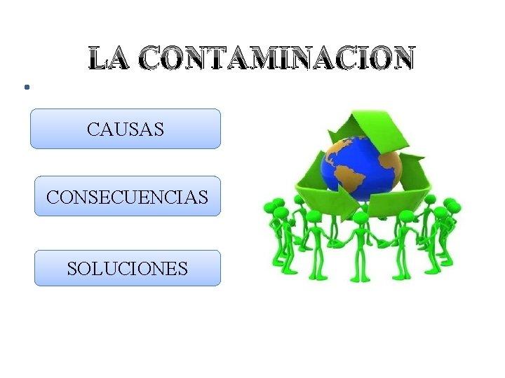 LA CONTAMINACION CAUSAS CONSECUENCIAS SOLUCIONES