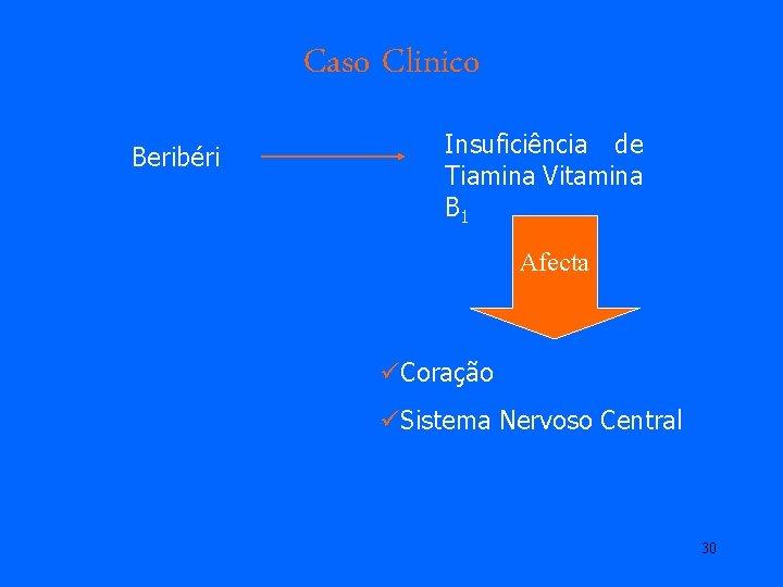 Caso Clinico Beribéri Insuficiência de Tiamina Vitamina B 1 Afecta üCoração üSistema Nervoso Central