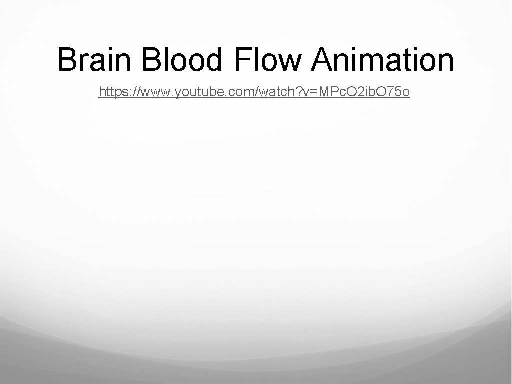 Brain Blood Flow Animation https: //www. youtube. com/watch? v=MPc. O 2 ib. O 75