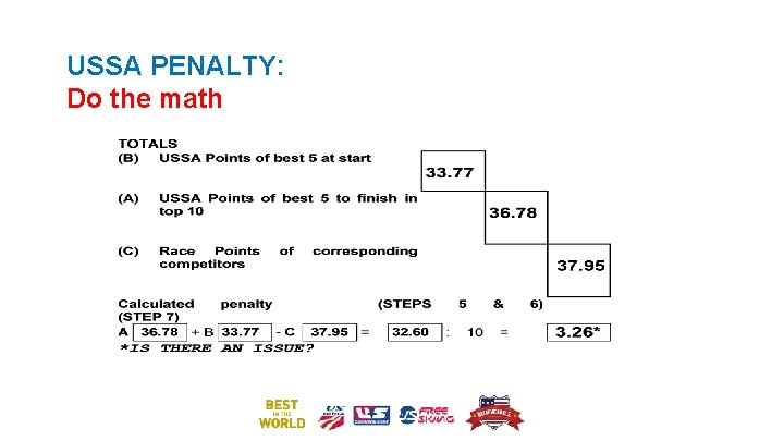 USSA PENALTY: Do the math