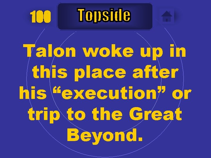 """100 Talon woke up in this place after his """"execution"""" or trip to the"""