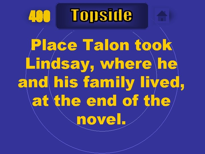 400 Place Talon took Lindsay, where he and his family lived, at the end