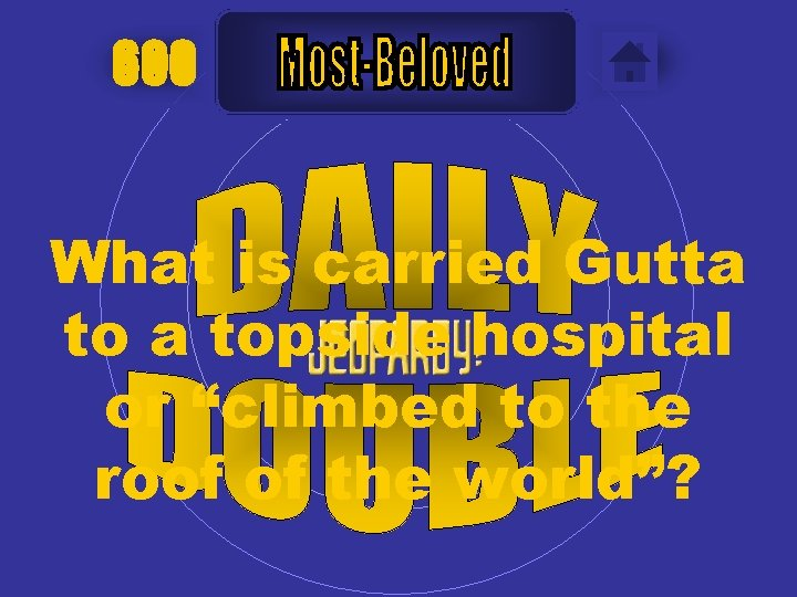 """600 What is carried Gutta topside hospital or """"climbed to the roof of the"""