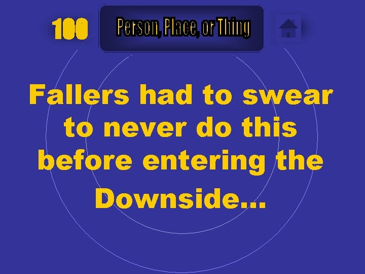 100 Fallers had to swear to never do this before entering the Downside…
