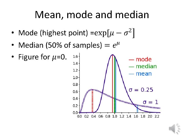 Mean, mode and median •