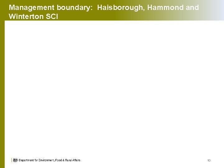Management boundary: Haisborough, Hammond and Winterton SCI 10