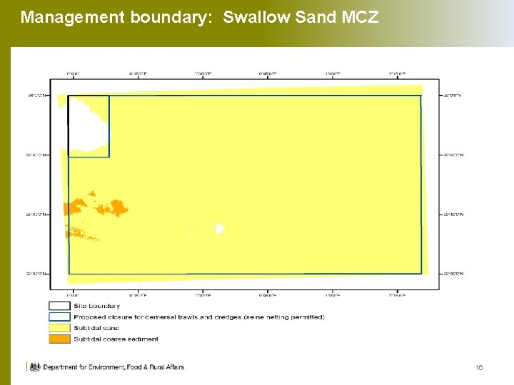 Management boundary: Swallow Sand MCZ 16