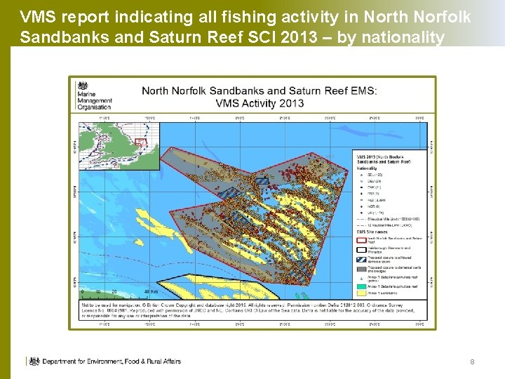 VMS report indicating all fishing activity in North Norfolk Sandbanks and Saturn Reef SCI