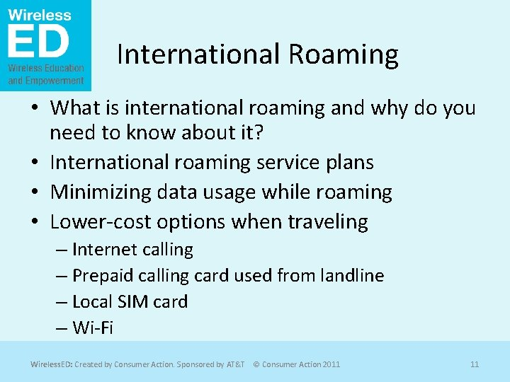 International Roaming • What is international roaming and why do you need to know