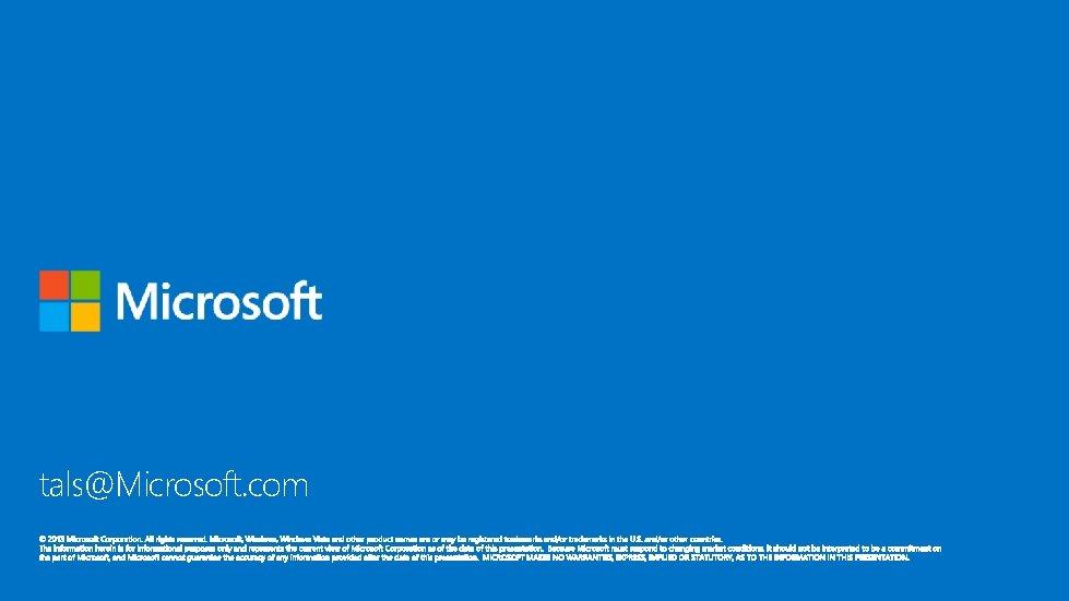 tals@Microsoft. com