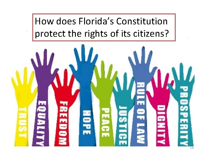 How does Florida's Constitution protect the rights of its citizens? 13