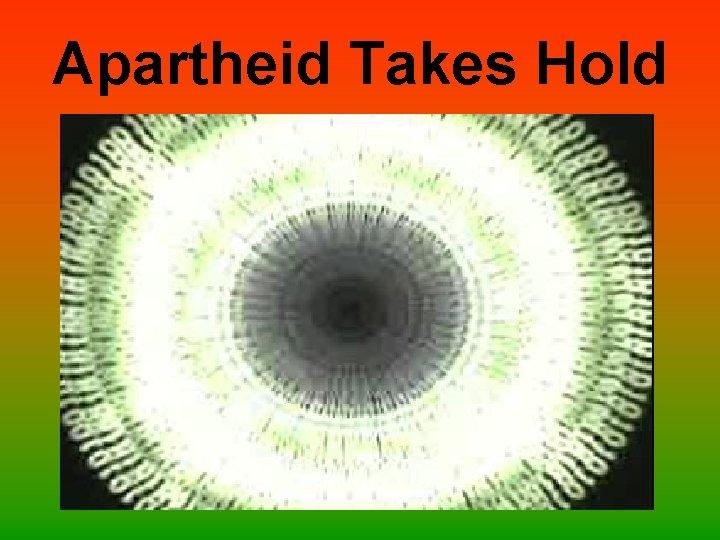 Apartheid Takes Hold