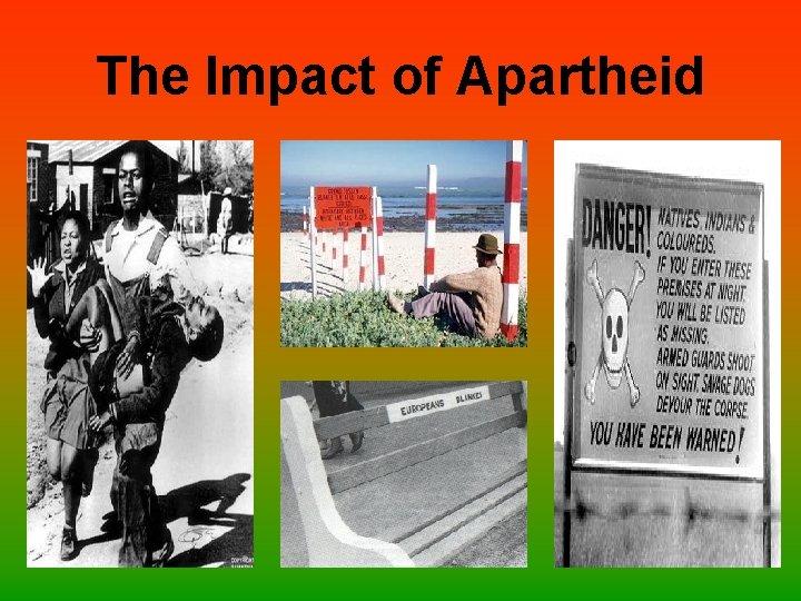 The Impact of Apartheid
