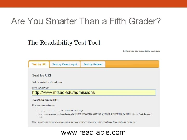Are You Smarter Than a Fifth Grader? www. read-able. com