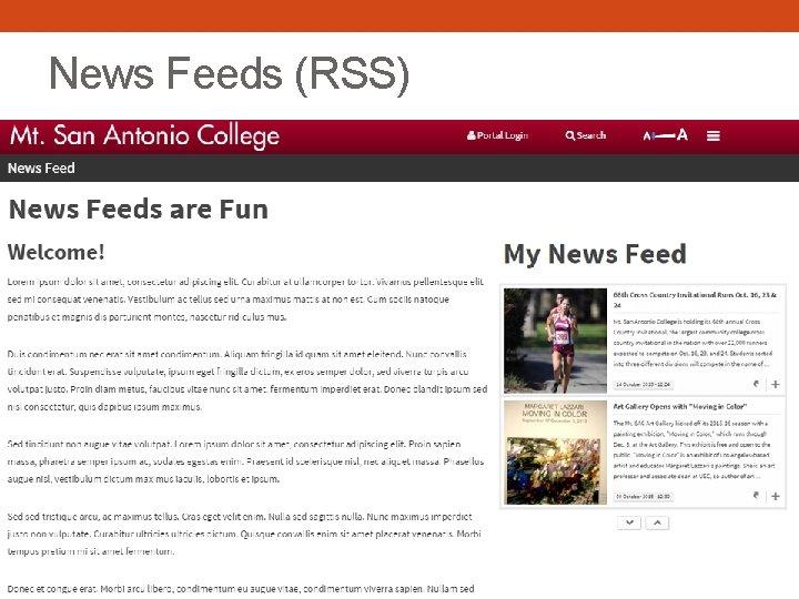 News Feeds (RSS)