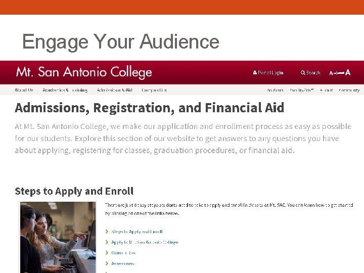 Engage Your Audience • Encourage Viewers to Explore