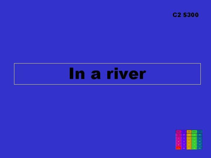 C 2 $300 In a river