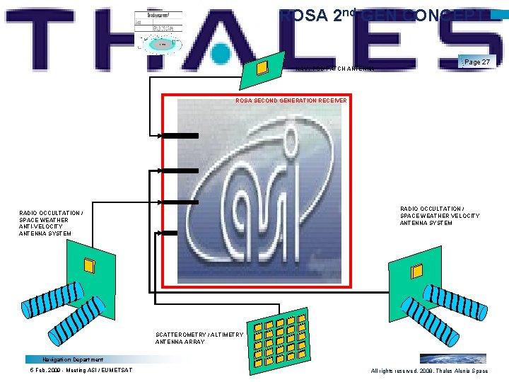ROSA 2 nd GEN CONCEPT NAV / POD PATCH ANTENNA Page 27 ROSA SECOND
