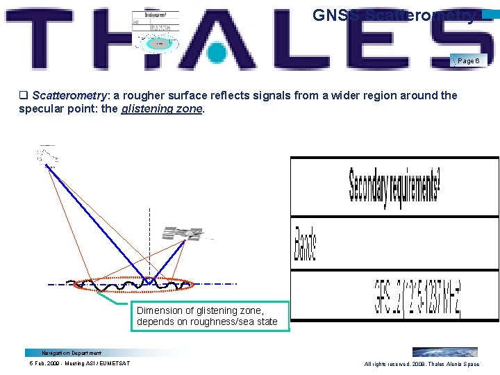 GNSS Scatterometry Page 6 q Scatterometry: Scatterometry a rougher surface reflects signals from a