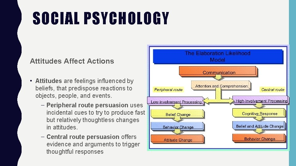 SOCIAL PSYCHOLOGY Attitudes Affect Actions • Attitudes are feelings influenced by beliefs, that predispose