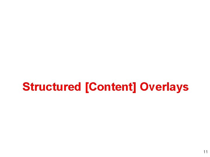 Structured [Content] Overlays 11