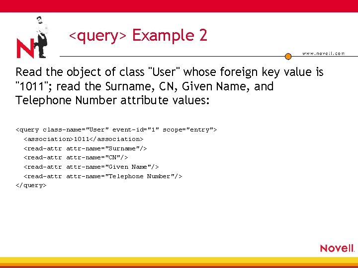 """<query> Example 2 Read the object of class """"User"""" whose foreign key value is"""
