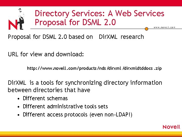 Directory Services: A Web Services Proposal for DSML 2. 0 based on Dir. XML