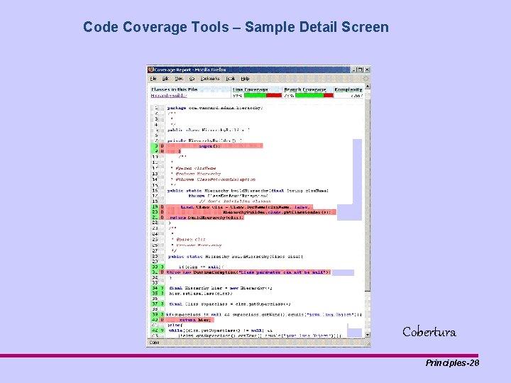 Code Coverage Tools – Sample Detail Screen Cobertura Principles-28