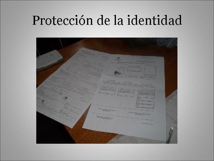 Protección de la identidad