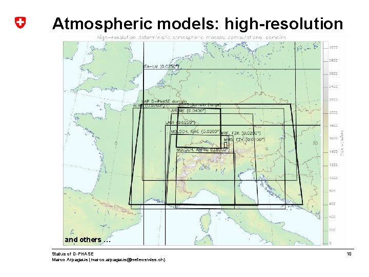 Atmospheric models: high-resolution and others … Status of D-PHASE Marco Arpagaus (marco. arpagaus@meteoswiss. ch)