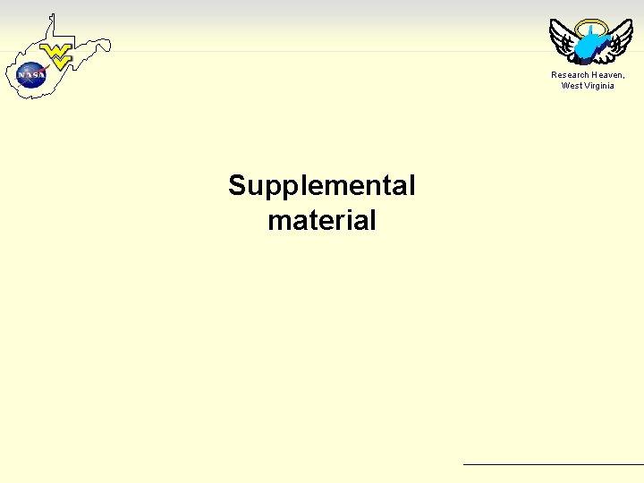 Research Heaven, West Virginia Supplemental material
