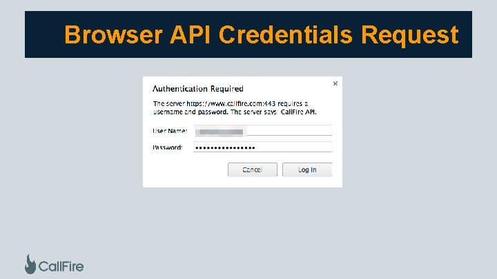 Browser API Credentials Request