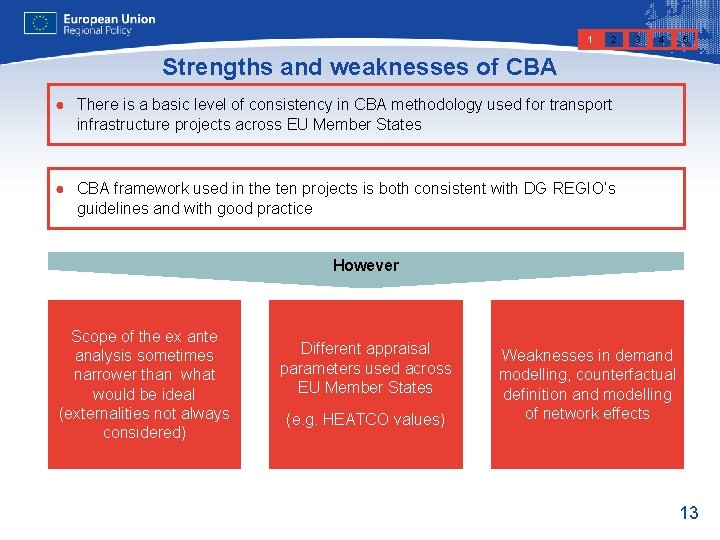 1 2 3 4 5 Strengths and weaknesses of CBA ● There is a
