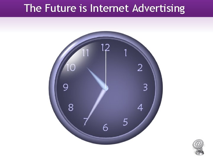 The Future is Internet Advertising