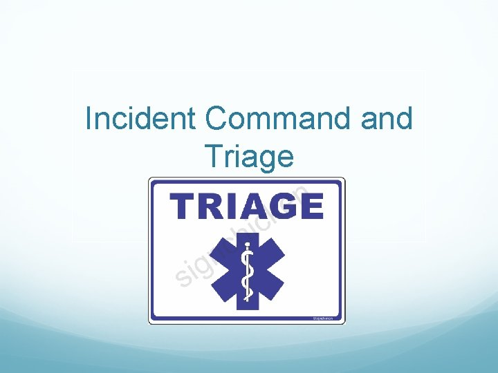 Incident Command Triage