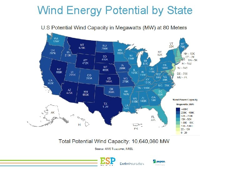 Wind Energy Potential by State
