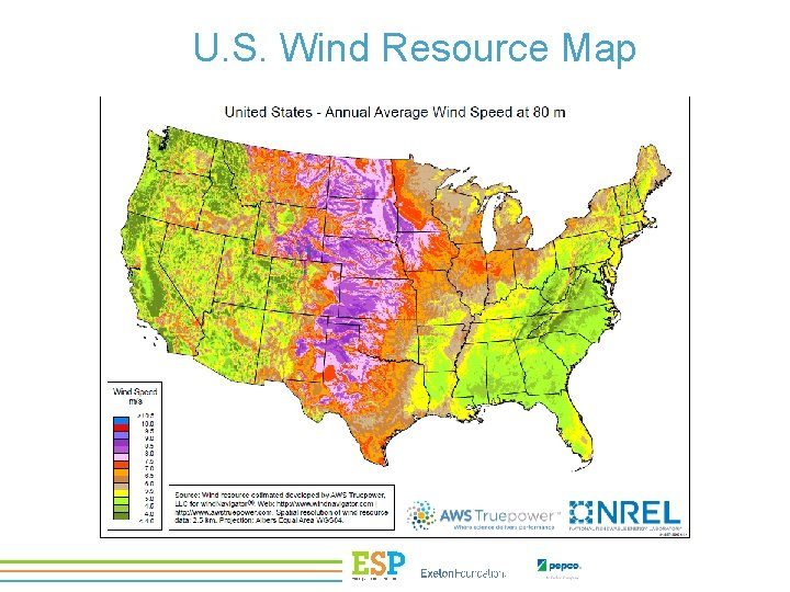 U. S. Wind Resource Map