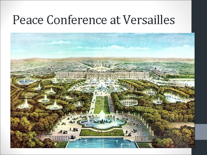Peace Conference at Versailles