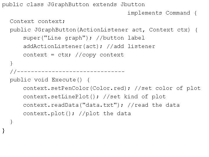 public class JGraph. Button extends Jbutton implements Command { Context context; public JGraph. Button(Action.