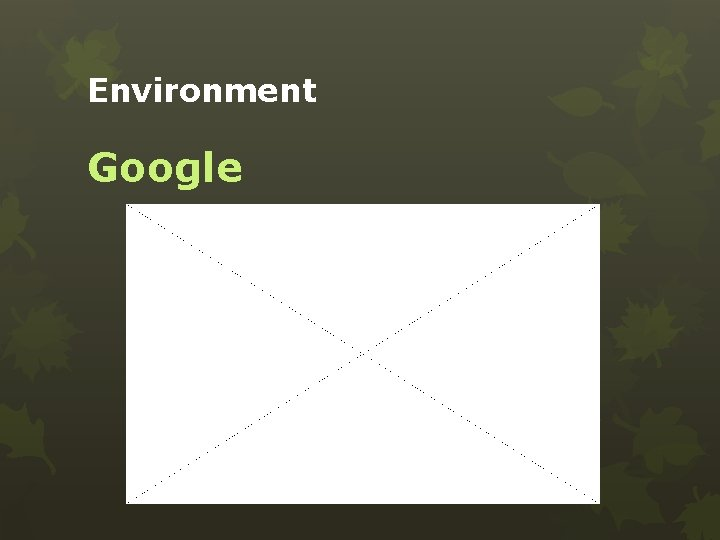 Environment Google