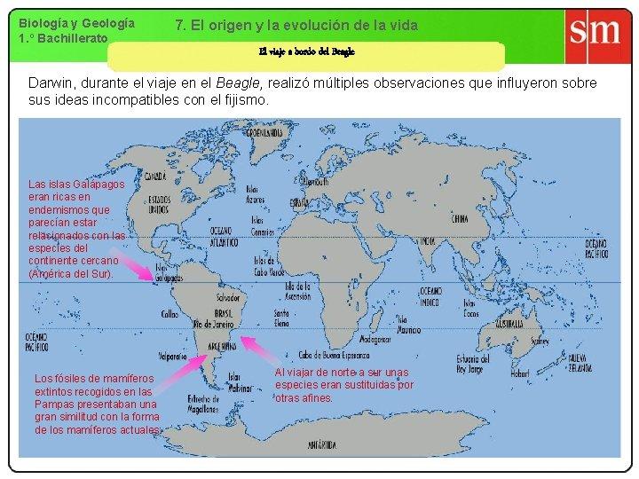 Biología y Geología 1. º Bachillerato 7. El origen y la evolución de la