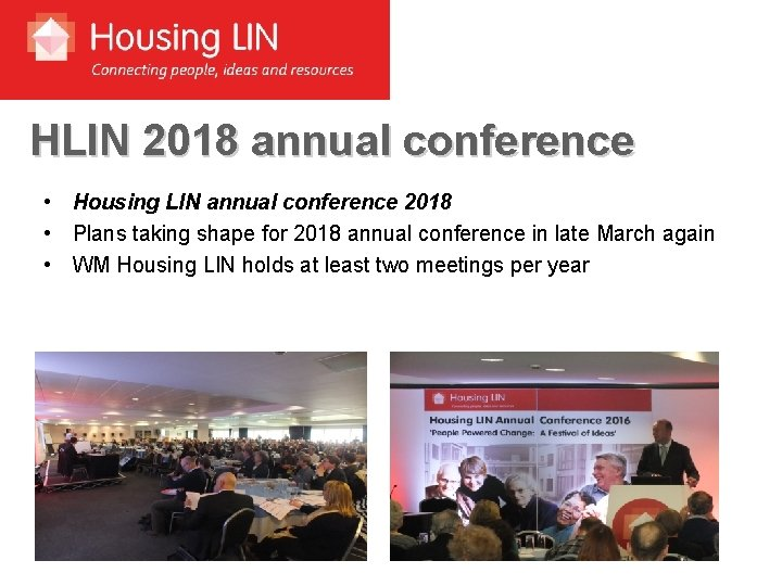 HLIN 2018 annual conference • Housing LIN annual conference 2018 • Plans taking shape