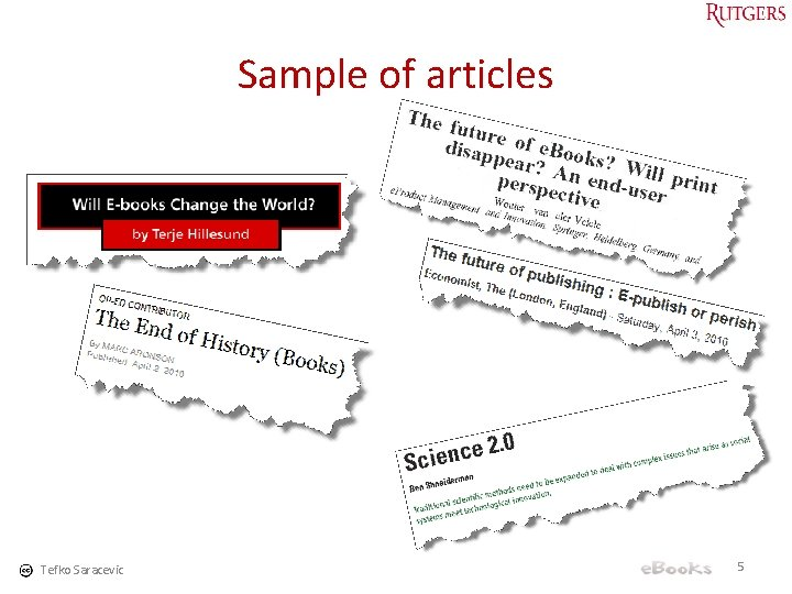 Sample of articles Tefko Saracevic 5