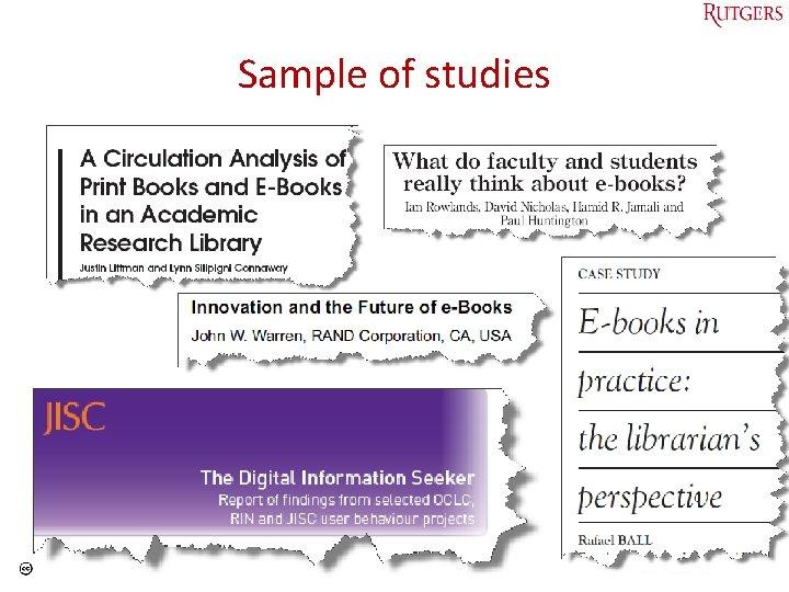 Sample of studies Tefko Saracevic 6