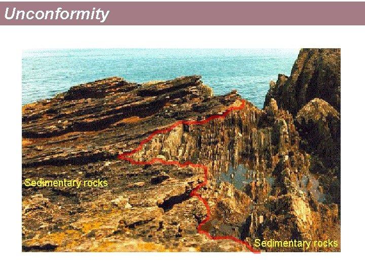 Unconformity Sedimentary rocks