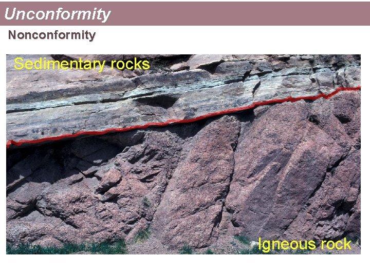 Unconformity Nonconformity Sedimentary rocks Igneous rock
