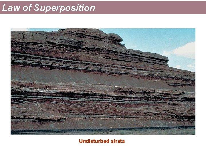 Law of Superposition Undisturbed strata