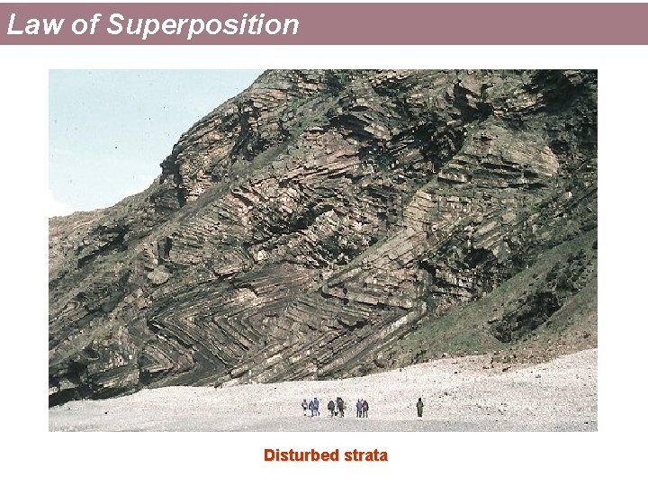 Law of Superposition Disturbed strata