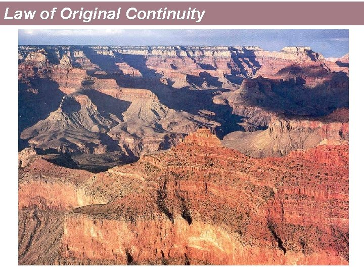 Law of Original Continuity