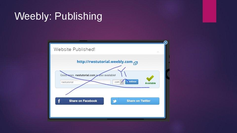 Weebly: Publishing